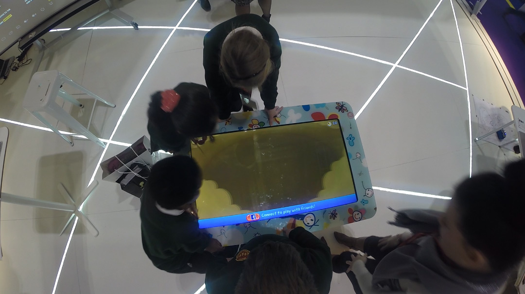 Kids on interactive table
